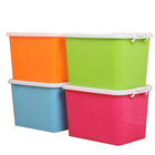 Different Sizes Plastic Storage Container Plastic Storage Bins Coconut Container Plastic Container wiht Lid