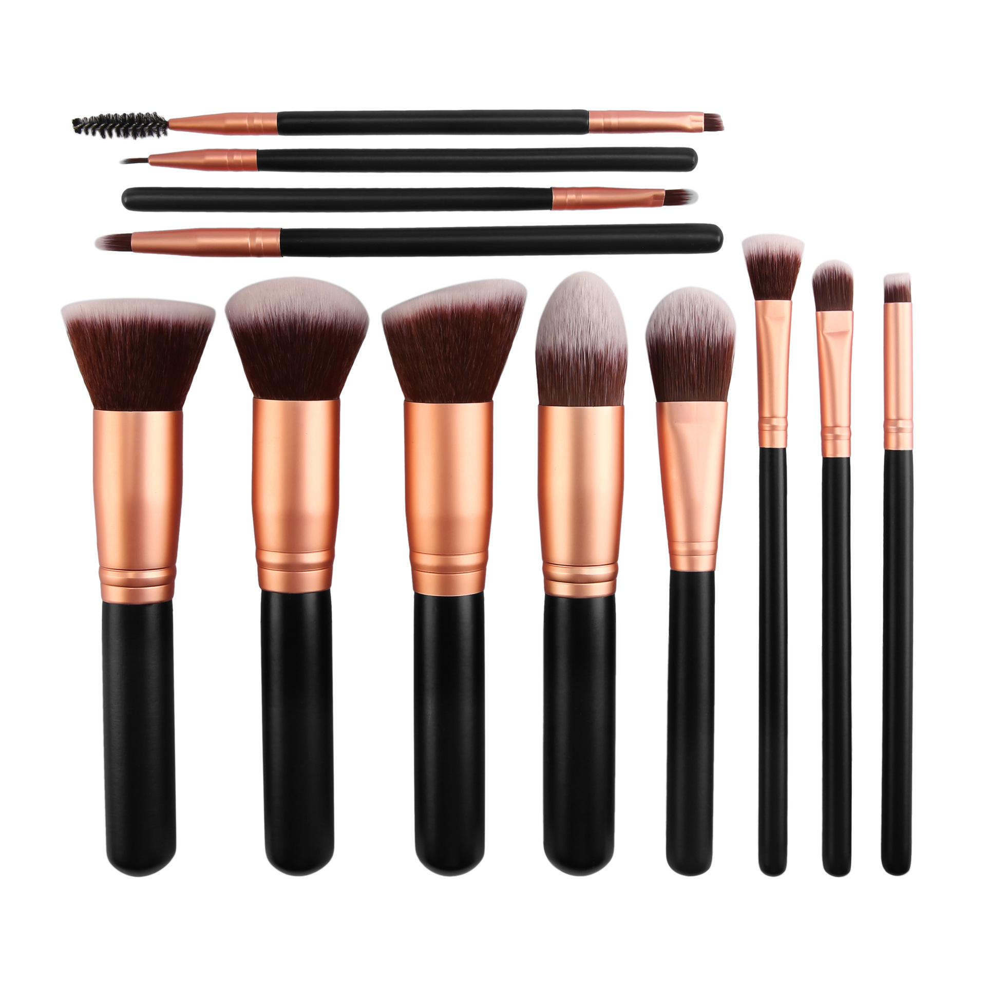 Neue 2019 Trend Heiße Beliebte Vegan Holz Make-Up Pinsel Private Label 12PCS Schönheit Bürsten Make-Up Erröten Kontur Machen Up pinsel