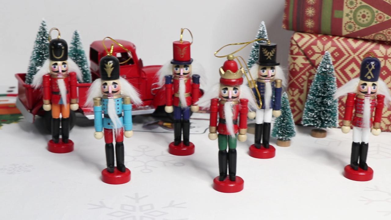 Большая распродажа, рекламное украшение для дома Ourwarm, деревянный солдат, гайковёр для Рождественского украшения