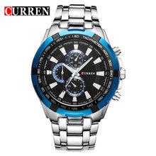 CURREN кварцевые мужские часы Топ бренд класса люкс мужские военные наручные часы полностью стальные мужские спортивные часы водонепроницаем...(Китай)