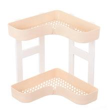 2-слойный угловой органайзер для ванной комнаты, Пластиковая Полка для хранения шампуня, Полка для кухни, подставка для специй, приправа, дер...(Китай)
