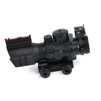 Tactical Acog 4x32 scope Reflex red green dot Sight scope Hunting air Gun Rifle weapon 4x Scope acog