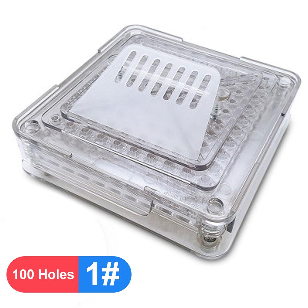 00 #0 #1 #100 отверстие прозрачный стиль акриловая машина для ручного наполнения капсул упаковочная машина разливочная пластина(Китай)