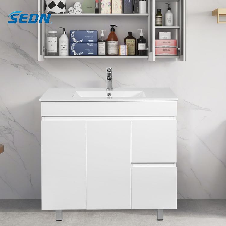 Custom modern style bathroom furniture for mall hotel home floor vanity