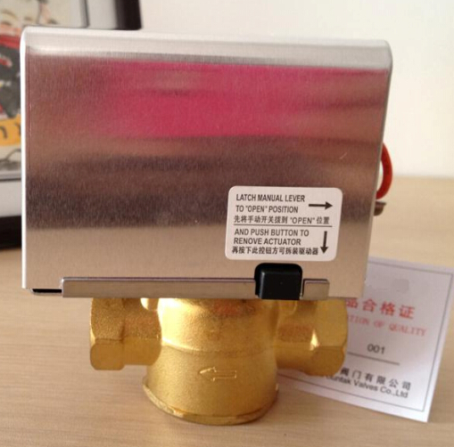 Refrigeration Parts 2/3 Way Ball Valve Water Control Valves Brass Stainless Steel Electric Water Motorized Valve
