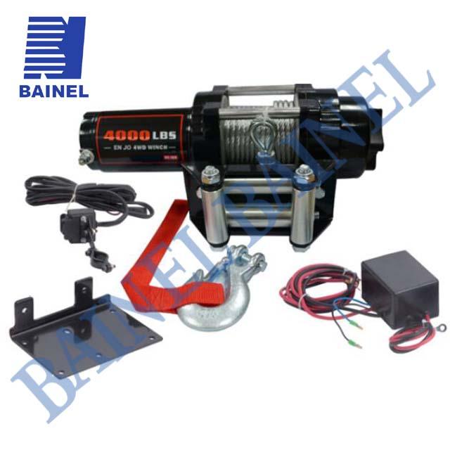 4000 фунтов 12 V/24 V электрическая лебедка с жильный кабель водостойкий пульт дистанционного управления ATV/UTV подходит