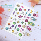 Cartoon Fruit Self-adhesive Nail Decals for Girls 3D Stickers for Fingernails Toenails Nail Art Stickers Accessories for Kids