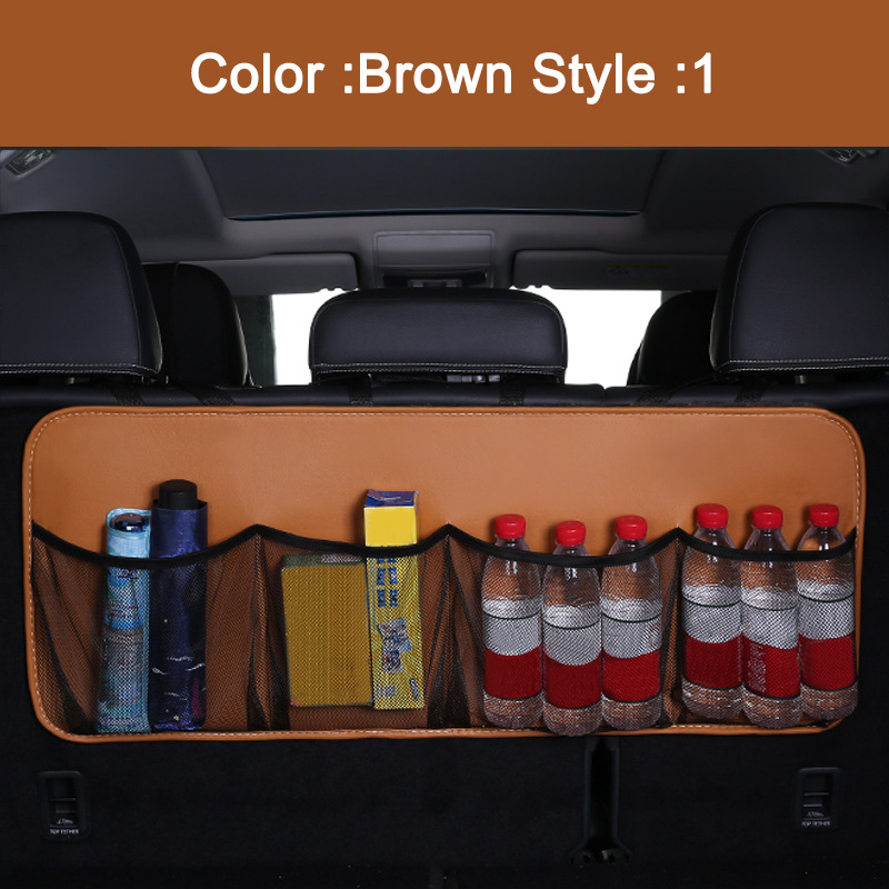 Багажник автомобиля Задняя сумка для хранения на спинку сиденья Органайзер отсек карманы аксессуары NJ88(Китай)