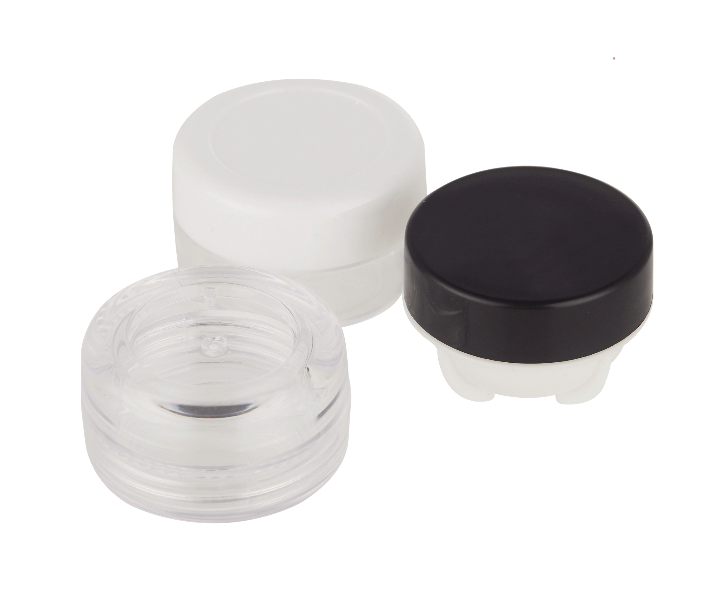 Mini 3g 5g PP/PS materiaal cosmetische eye cream jar