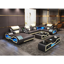 <span class=keywords><strong>Ruang</strong></span> <span class=keywords><strong>Tamu</strong></span> <span class=keywords><strong>Modern</strong></span> Furniture Kulit Sofa <span class=keywords><strong>Set</strong></span> dengan LED