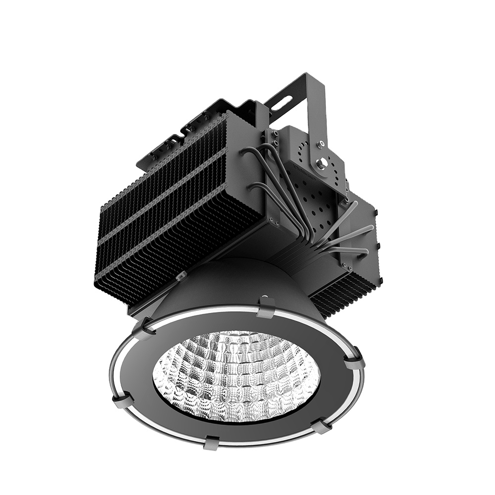 ETL DLC 5 years warranty IP67 300W 500W 1000W die cast aluminum led round flood light housing