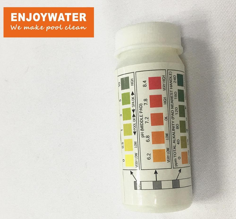 Enjoywater pool spa piscina water 3 in 1 test strips (50 strips):  Free Chlorine, PH, Total Alkalinity Bromine O2 Copper