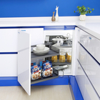 Unihopper kitchen cabinet storage soft closing sliding pull out glass magic corner