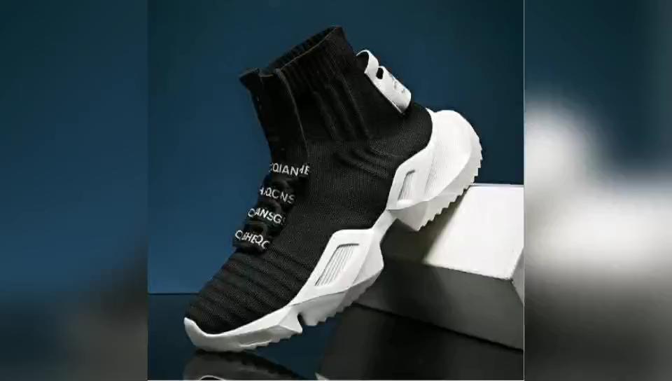 Новые модели 2020 Летняя обувь на толстой подошве обувь с сеткой; Из искусственной flyingknit короткие носки; Теплые ботинки с высокими берцами; Кроссовки для мужчин