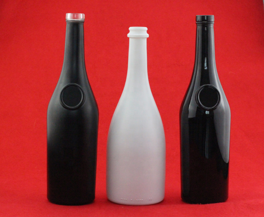 Hot Sell Round 750ml Super Flint Metal Printing Glass Bottle