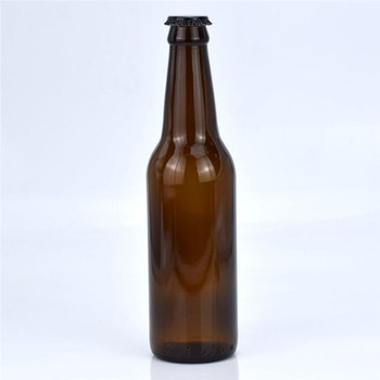 Hot Sell amber 500ml Empty Glass Beer Bottle for Sparkling Wine Alcohol Juice Beverage with metal Crown Cap