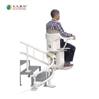 Hot-sale JY-LT curved mini intelligent home elevator climbing home disable people electric automatic emergency stair chair lift