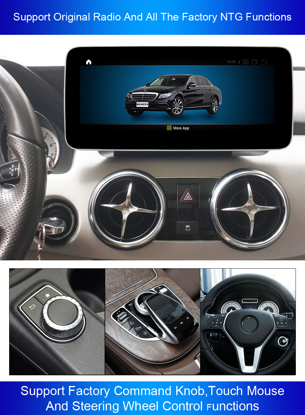 Bosstar 4 + 64G 10,25 zoll Android 9.0 auto stereo auto video für Benz E klasse/W207/W212 /C207/A207 gps navigation dvd player