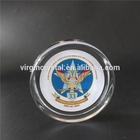 Dog Image Printed Optical Crystal Glass Round Paperweight for decoration Souvenirs