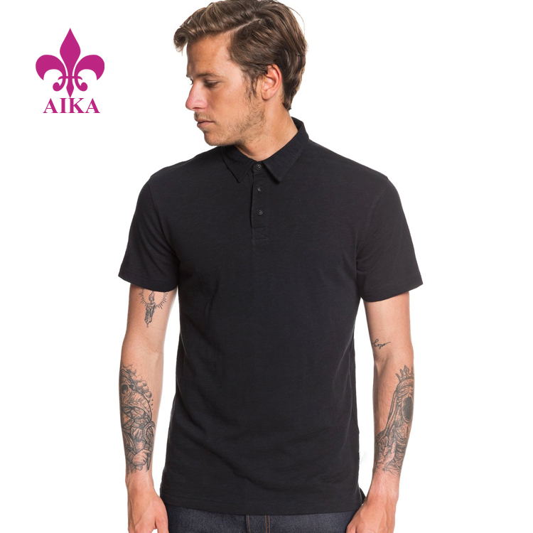 2020 Spring New Fashion Design Pure Cotton Jersey Modern Fit Short Sleeve Polo Shirt for Men