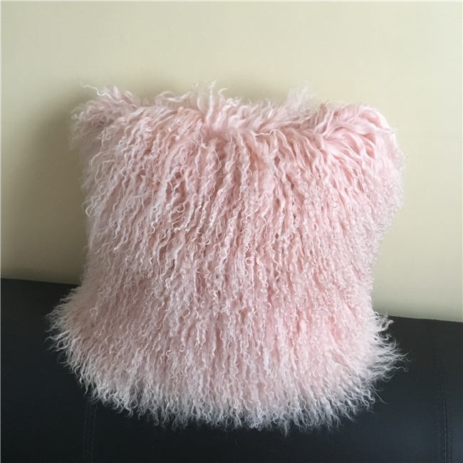 Customize Size Rosette Color Mongolian Sheep Wool Cushion Covers