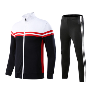 Custom Mens Blank Jogging Suits High Quality Wholesale Polyester Cotton Sweatsuit Casual Running Tracksuit Sweat Suit