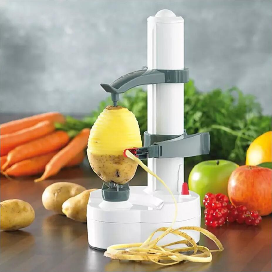 Electric Automatic peeler Multifunctional Electric Rotating Express Fruits Vegetables Cutter Slicer Dropship