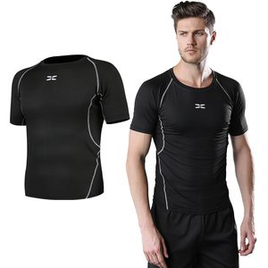 High quality OEM men custom compression tight wear running yoga jog muscle fitness T-shirt