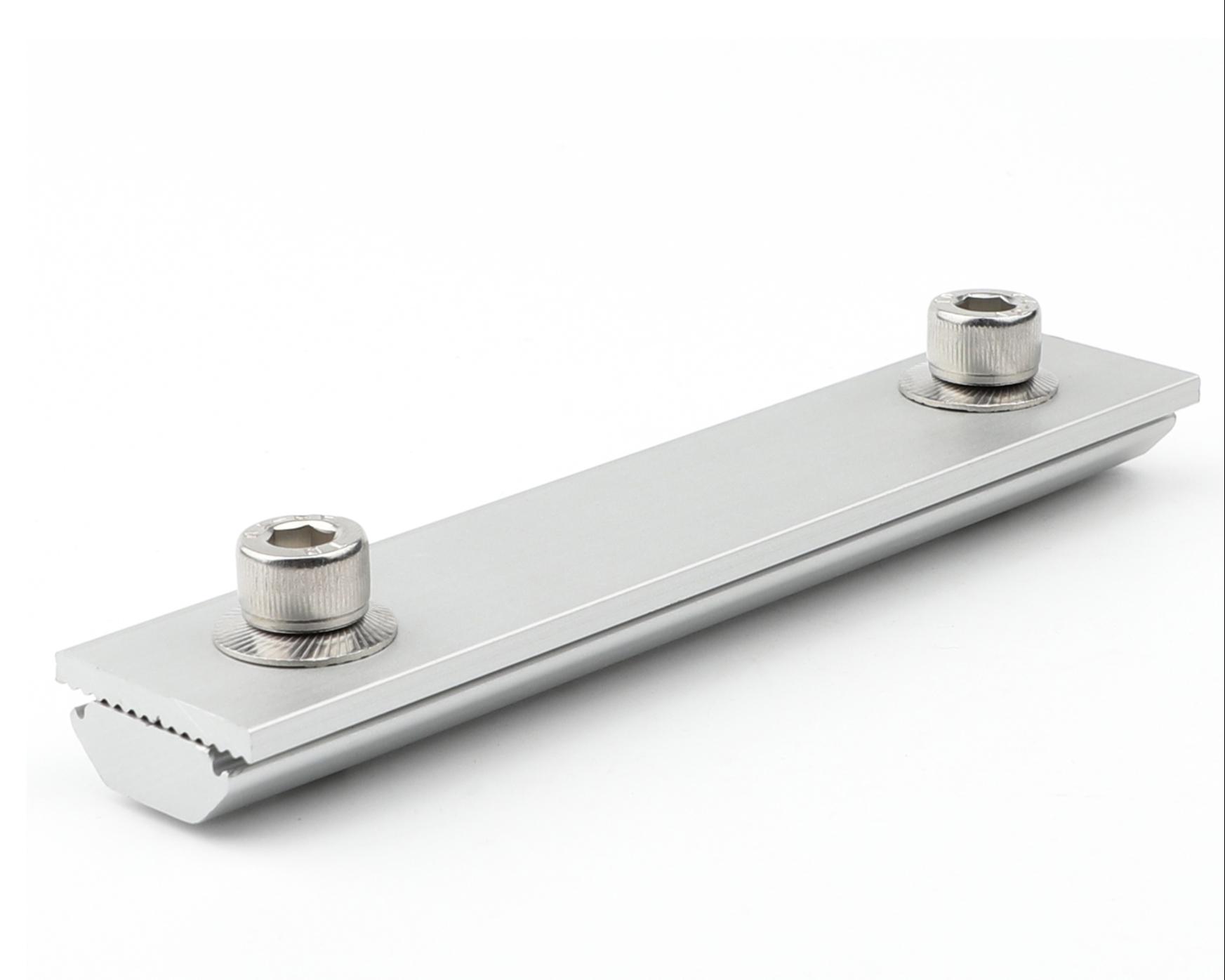 Solar panel mounting aluminum rail connector rail splice kits