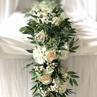 IFG greenery artificial flower runner for wedding table flower arrangements