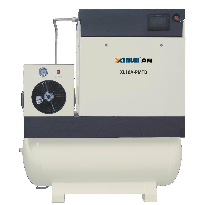 8bar 10bar 20HP 15KW XLPMTD20A-t815 schraube luft kompressor mit 500L air tank mit luft trockner mit frequenz inverter