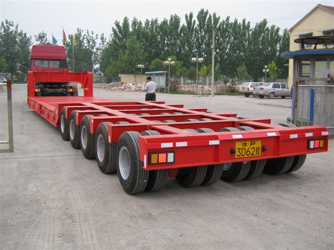 Chengda Manufacturing 80ton Lowboy 15m Low Bed Trailer