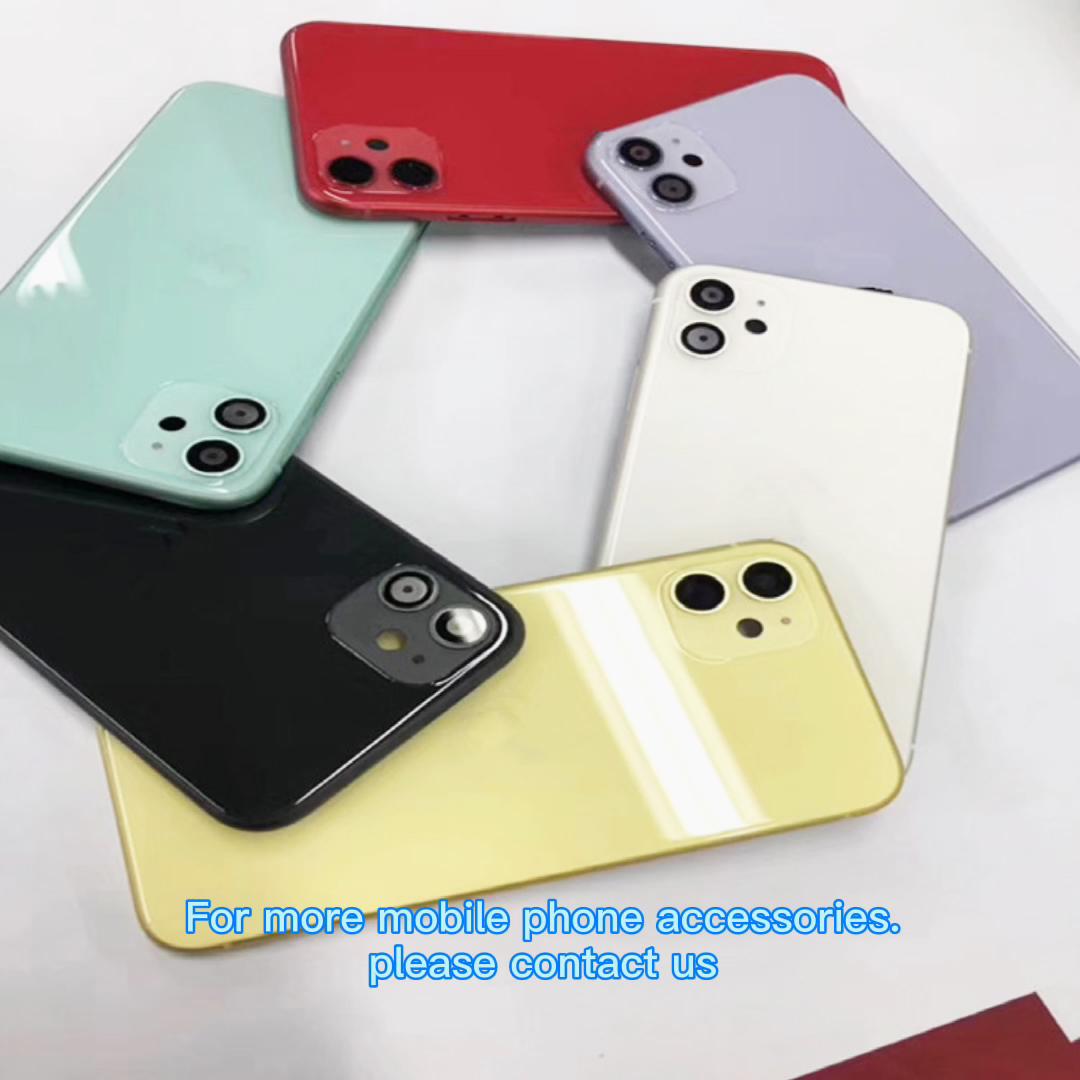 Cep telefonu arka muhafaza pil kapağı iphone 11/11 Pro/11 Pro Max XI vücut tam orta çerçeve meclisi özel parça logo ile