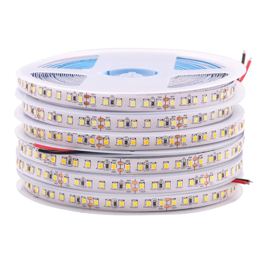 Waterproof led strip 2835 5M 600led DC12V flexible led bar light warm white/white/red/green/blue outdoor decoration