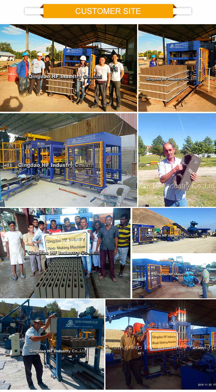 QT4-16 china fully automatic hydraulic concrete cement hollow interlocking paver brick block making machine for sale