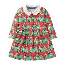 Little maven/платье с длинными рукавами для девочек; Костюм принцессы с бабочками и блестками для маленьких девочек; Рождественская Детская одеж...(Китай)