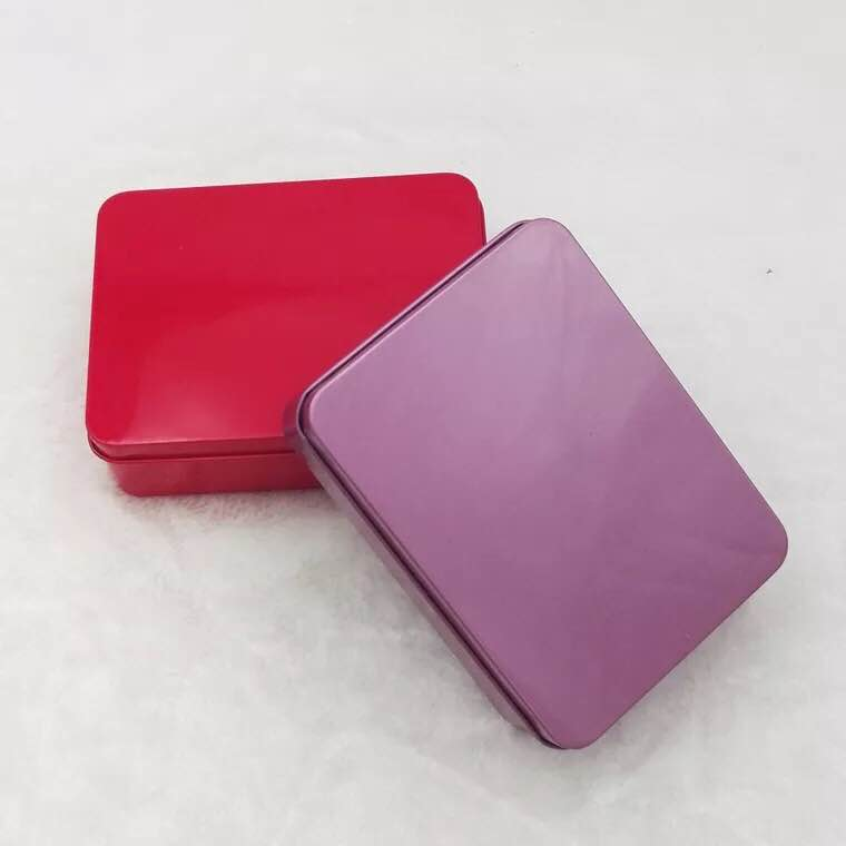 gift packaging multiple colored rectangular metal tin box