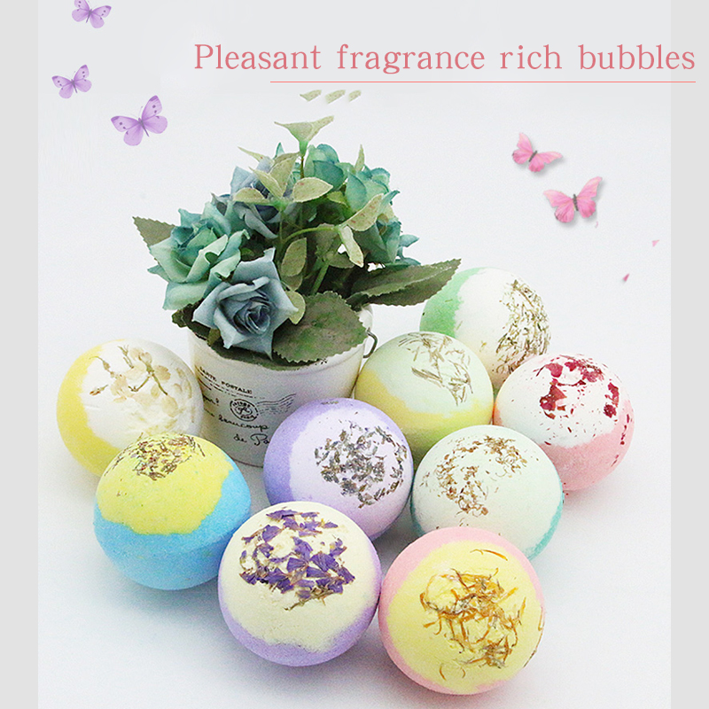 LIYALAN Private label scented rainbow natural organic herbal bath bombs gift set for bubble bath