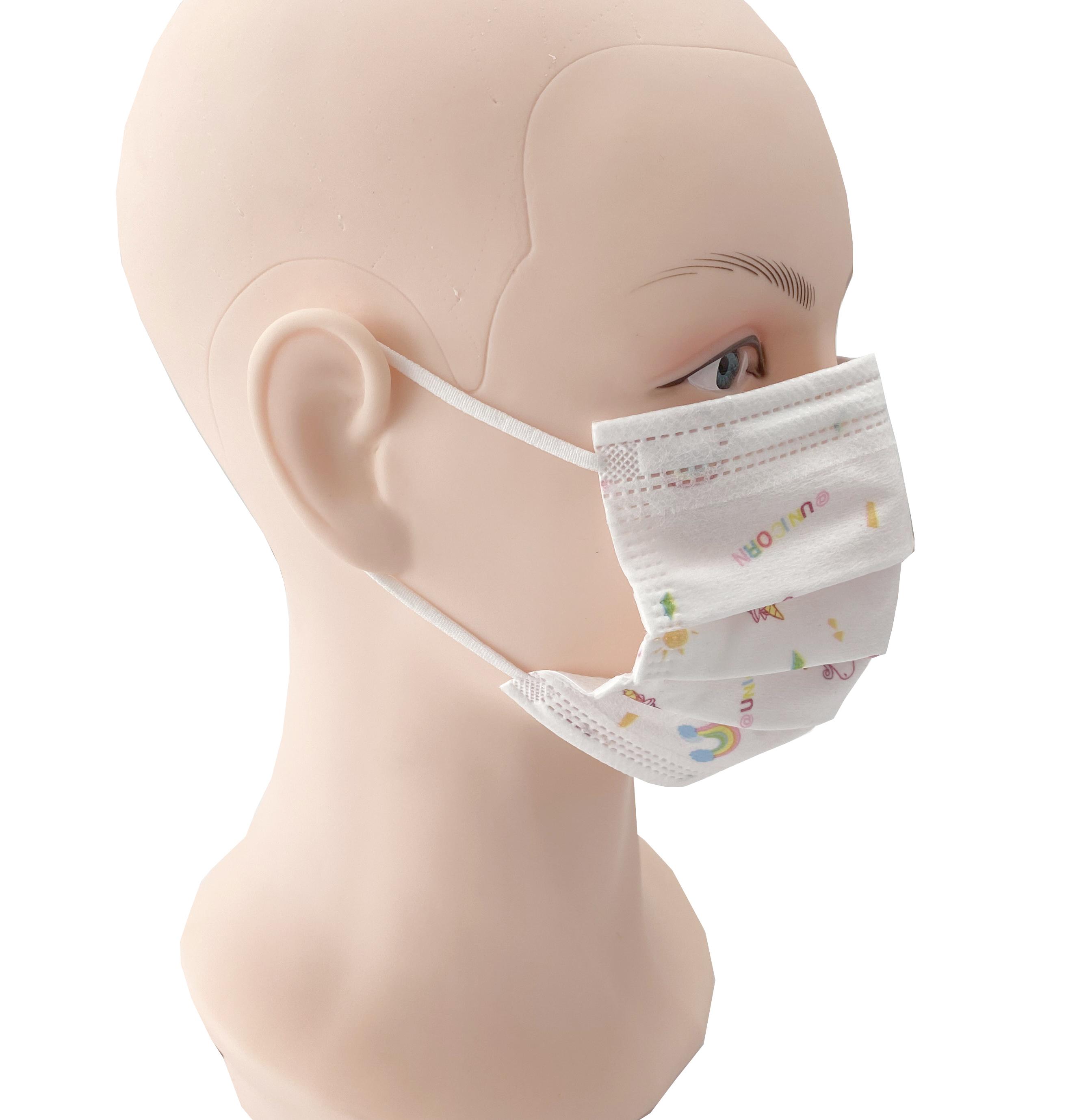 Disposable respirator cute print children's three-layer melt-spray respirator cartoon face mask - KingCare | KingCare.net