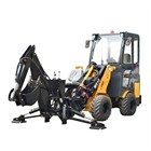 0.5cbm bucket capacity steel camel wheeled telescopic boom loader with swing arm backhoe