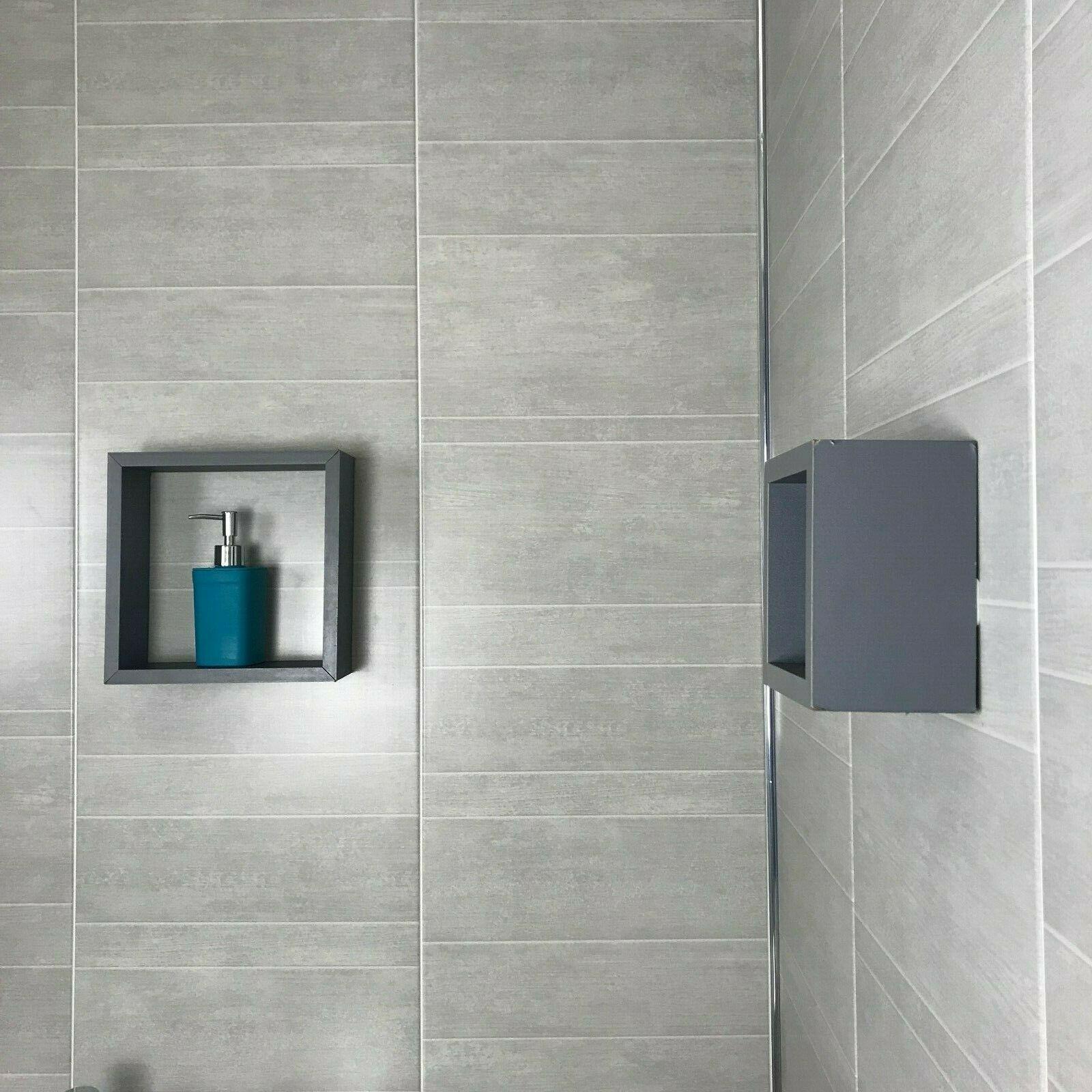 grey marble tile effect 2508mm bathroom wall panels