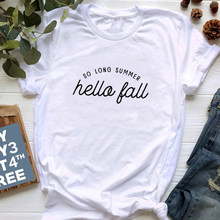 Очень длинные летние женские рубашки с надписью «Hello» и «Hello»; винтажные футболки с принтом тыквы; Эстетическая мягкая хлопковая футболка с ...(Китай)