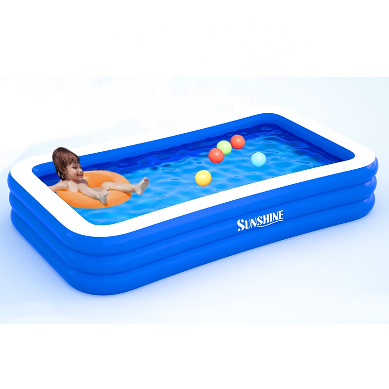 Sunshine wholesale 10ft inflatable swimming pool swimming outdoor family pool for kids