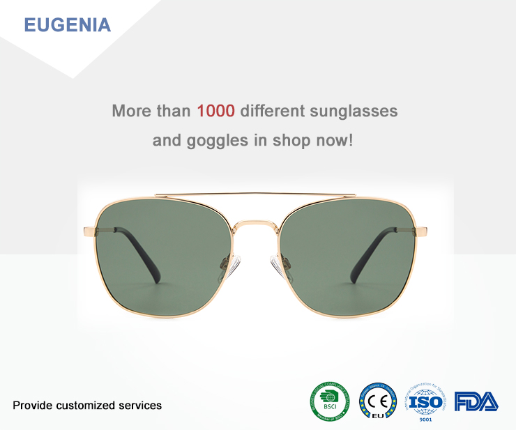 EUGENIA  china supplier  custom OEM oversize sun glasses metal sunglasses 2020