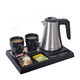Stainless Steel Electric Mini Travel Sliver Color Hotel Kettle