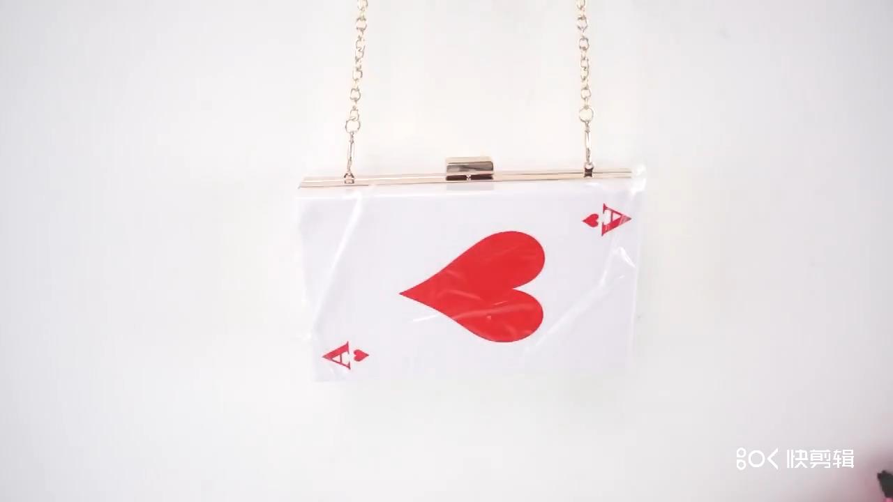 2020 carte à jouer à motifs sacs à main dames chaîne sangle dîner femmes embrayage sacs à bandoulière sac à main en acrylique