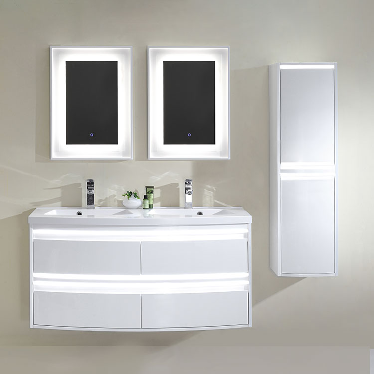 China Supplier Top Quality Ready Made Plywood Kitchen Shower Bathroom Cabinets Vanity Unit With Sink