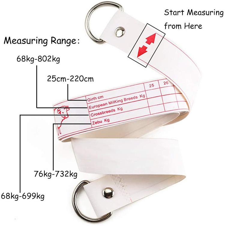 ODM/OEM Mengukur Hewan Berat Bermerek Hewan Sapi Babi Berat Tape