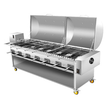 In acciaio inox a carbone barbecue grill basamento <span class=keywords><strong>bbq</strong></span> girarrosto meccanismi di BARBECUE Grill