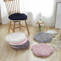 Rose Shaped Chair Pads Square Chair Cushion Soft Thicken Seat Pads Cushion Pillow for Office,Home or Car Sitting